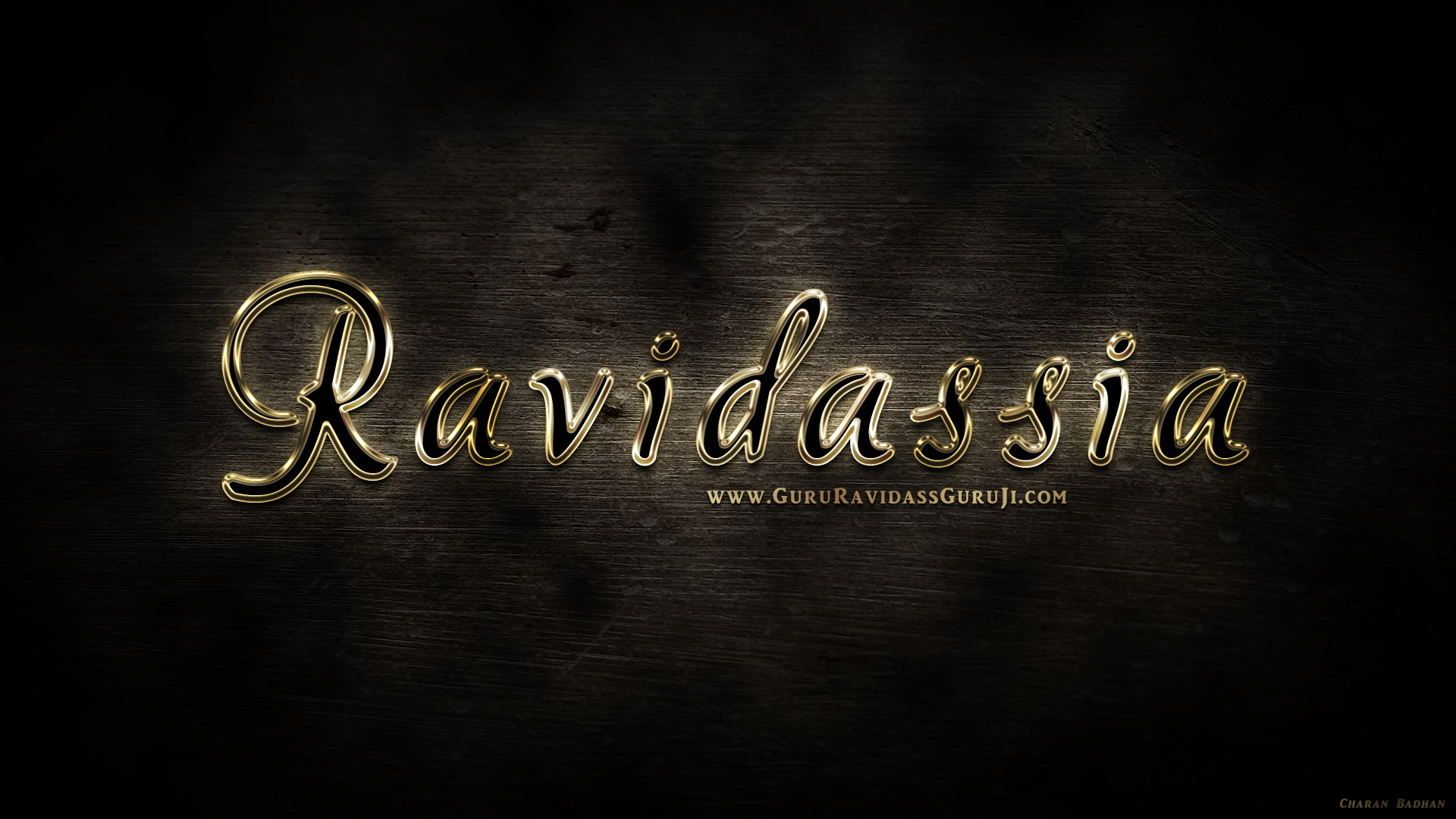 perfect golden text effect - ravidassia wallpaper